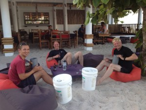 Packing Sorb with my fellow students during my course at Evolution divers