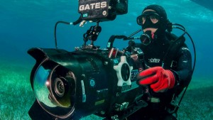 Roger Munns with the Red Dragon and Gates Deep Dragon underwater camera housing