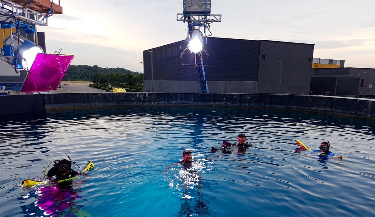 Underwater filming at Pinewood Studios Malaysia
