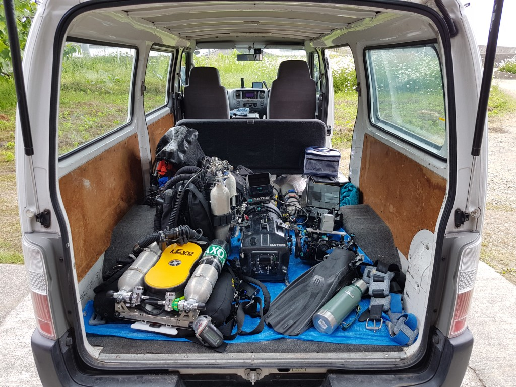 Loaded and ready to go on location in Japan for Blue Planet II